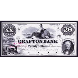 Grafton Bank, 1854 Proof Obsolete Banknote.