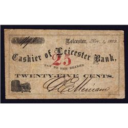 Leicester Bank Scrip Note.