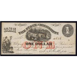 State of Mississippi, 1864 Issue.