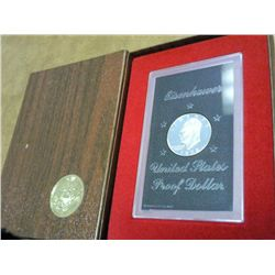 1972-S IKE SILVER DOLLAR PROOF (BROWN PACK)