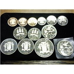 13-PROOF JAMAICA COINS (AS SHOWN)
