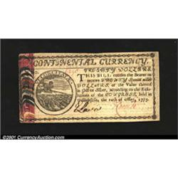 Continental Currency May 10, 1775 $20 Choice Extremely Fine.
