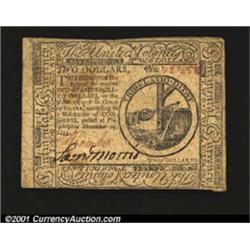 Continental Currency November 29, 1775 $2 Choice Very Fine.