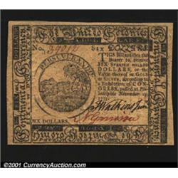 Continental Currency November 29, 1775 $6 Superb Gem New.