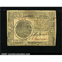 Continental Currency November 29, 1775 $7 New.