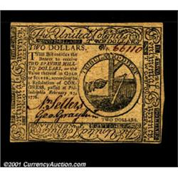 Continental Currency February 17, 1776 $2 New.