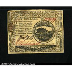 Continental Currency February 17, 1776 $4 About New.