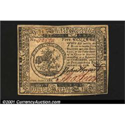 Continental Currency February 17, 1776 $5 Superb Gem New.