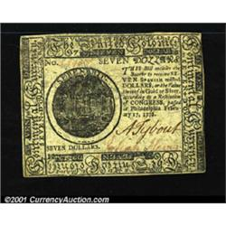 Continental Currency February 17, 1776 $7 Choice New.
