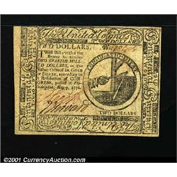 Continental Currency May 9, 1776 $2 Choice New.