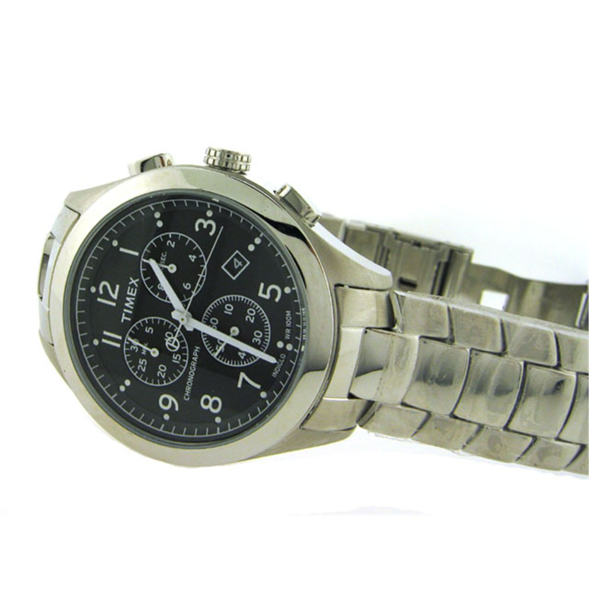 Timex Men S T Series Chronograph Silver Tone Stainless Steel Bracelet Watch T2m469