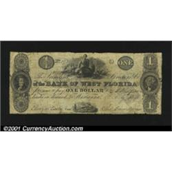 Marianna, FL- Bank of West Florida $1 G2 Freeman 1A very scarce denomination, with this piece having