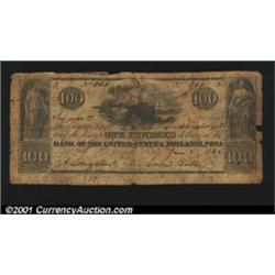 St. Joseph, FL- Commercial Bank of Florida $100 June 2, 1842 G64 Freeman 7A scarcer denomination, al