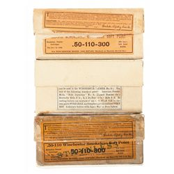 Three Boxes of Winchester 50-110-300 Express Cartridges