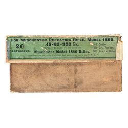 Vintage Box of Winchester 45-85-300 Express Ammunition, Branded for the Model 1886 Rifle