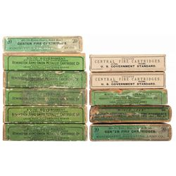 Eleven Boxes of Vintage 45-70 and 50-70 Ammunition