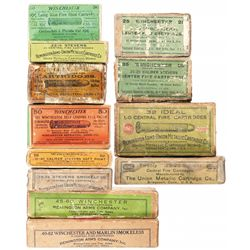 Twelve Boxes of Vintage Rifle Ammunition