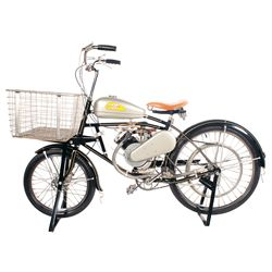 1947 Schwinn Whizzer Power Cycle Truck with Delivery Basket
