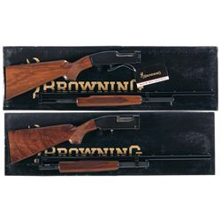 Two Browning Slide Action Shotguns