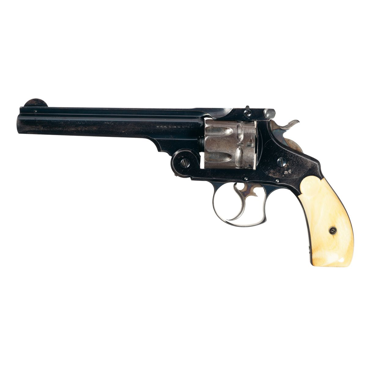 Smith & Wesson 44 Double Action First Model Revolver with Ivory Grips