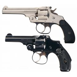 Collector's Lot of Two Smith & Wesson Top Break Double Action Revolvers
