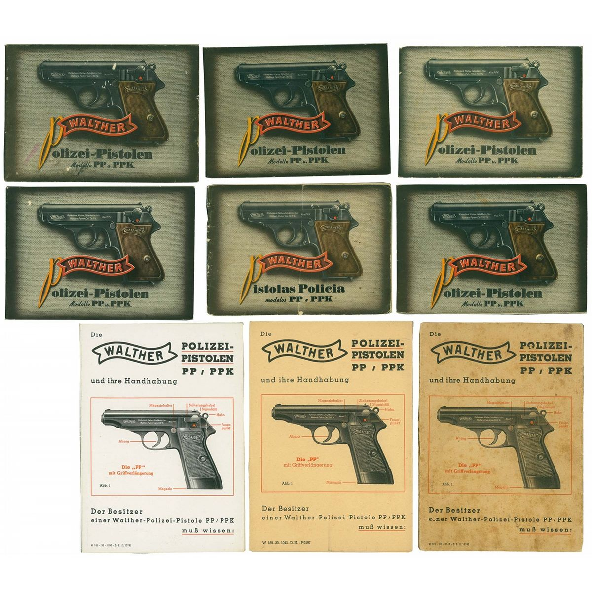 4th model walther pp ppk manuals and several wartime manuals rh icollector com