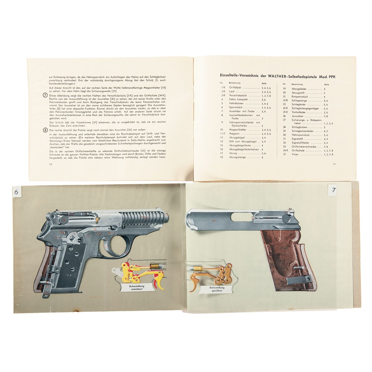 Stempel Walther extraordinary walther ppk pistol booklet