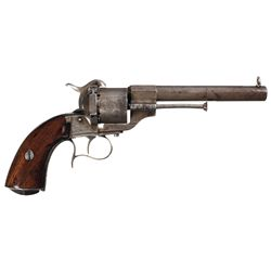 Historic Le Faucheux Single Action Pinfire Revolver Documented as Being Found on a Gettysburg Battle