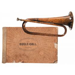 Identified Brass Bugle, with a Civil War Production Songbook