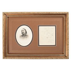 Framed Confederate General George Pickett Signature Display