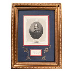 Framed Civil War General George Gordon Meade Signature Display