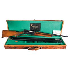Cased Belgium Browning Auto-5 Light Twelve Semi-Automatic Shotgun with Two Extra Barrels
