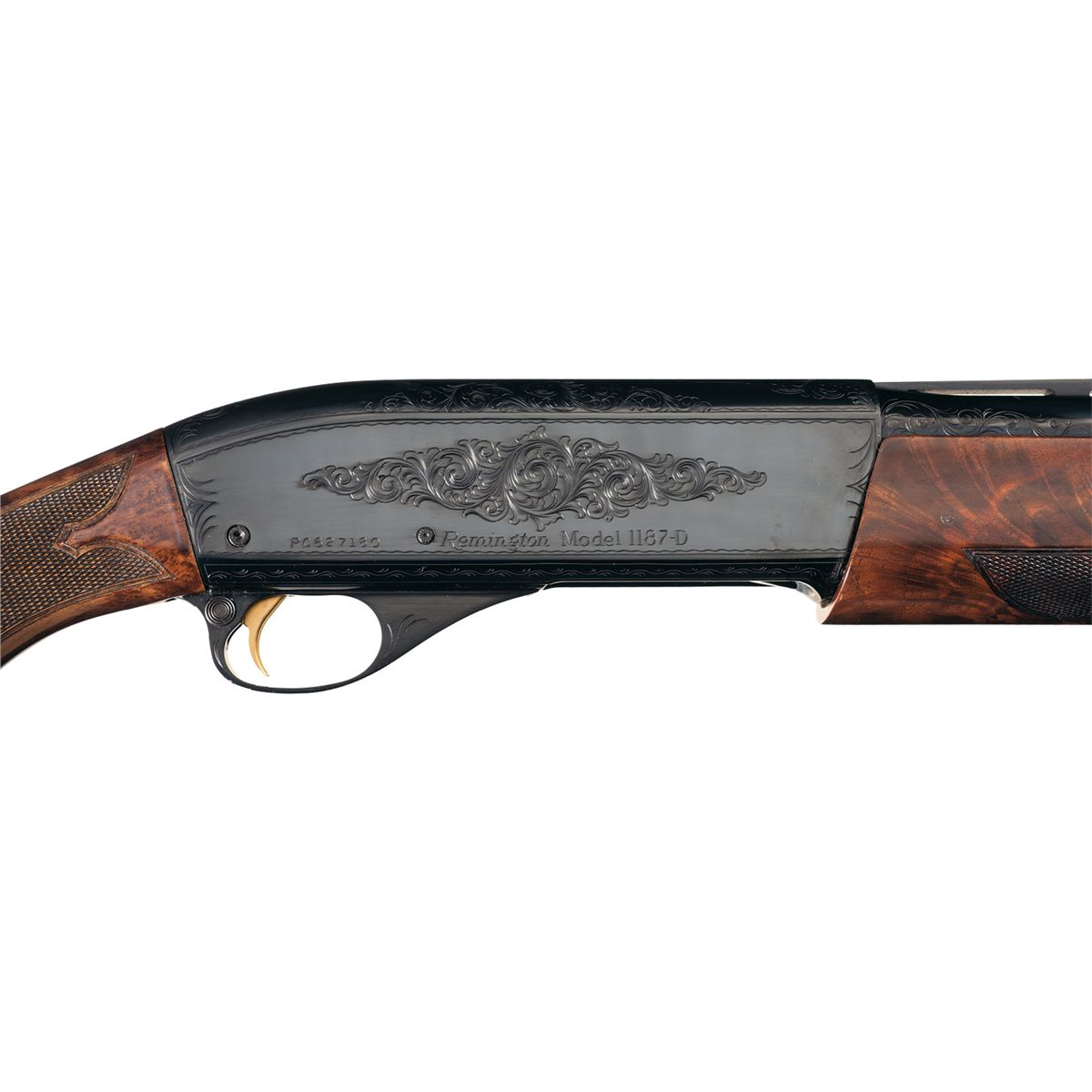 Factory Engraved Remington Model 1187 Custom D Grade Semi Automatic Shotgun