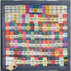 Extraordinary Display Grouping of Souvenir Submarine Launch Ribbons from Portsmouth Navy Yard, with