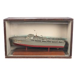 Period Wooden Model of Elco Patrol Torpedo Boat PT-10, with Case