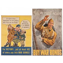 Two WWII U.S. War Bond Posters