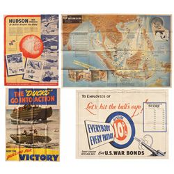 Four WWII Posters, Including Advertising, Bond Drive and Naval Intelligence Themes
