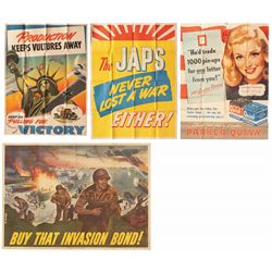 Four Original WWII Era American Propaganda/Advertising Posters