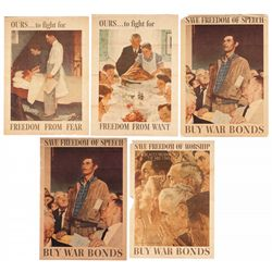 Collection of Norman Rockwell's WWII Freedom Posters