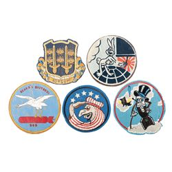 Five Jacket Patches, WWII Aviation