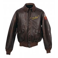 "Original A-2 Flight Jacket with Reproduction B-17 ""Outhouse Mouse"" Painted Markings by Ball Turret G"