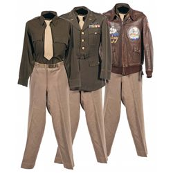 "World War II Painted ""Hump Pilot"" China-Burma-India Theater Type A-2 Flight Jacket with Uniform"