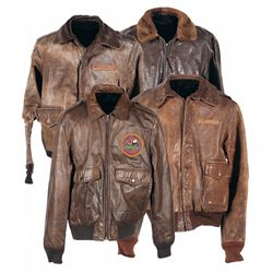Four U.S. Jackets and One A-11 Flight Helmet