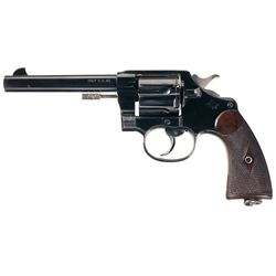 Outstanding and Rare  Civilian  Colt Model 1909 Marine Corps Double Action Revolver Documented to Co