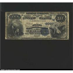 Chinook, MT - $10 1882 Date Back Fr.