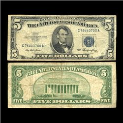 1953 $5 Silver Certificate Note Circulated Scarce (COI-4727)