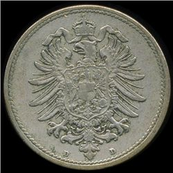 1876D Germany 10pf AU (COI-9846)