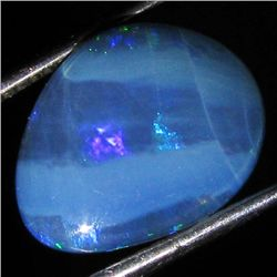 4.94ct Australian Black Opal Doublet Full Fire (GEM-35960)