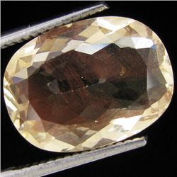 4.95ct Clear Champagne Oregon Sunstone Oval (GEM-30962)