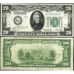 1928 $20 FRB Chicago Note Crisp XF/AU Scarce (CUR-06239)